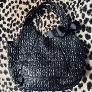 Deux Lux black quilted large shoulder bag